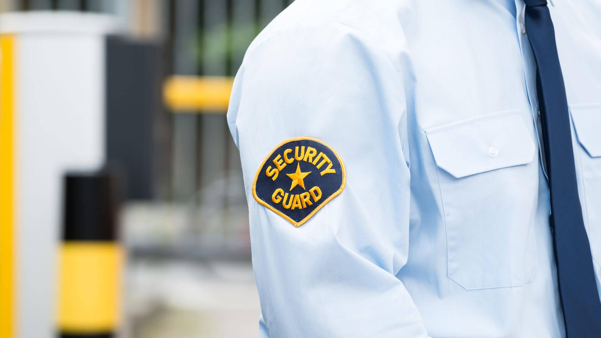 Sicherheitsdienst in Uniform